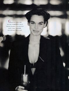 Vogue Italy Editorial January 1989 - Robyn Mackintosh by Arthur Elgort