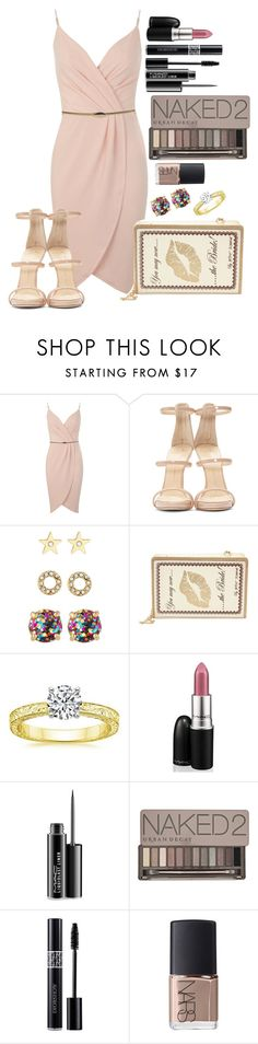 """Untitled #1339"" by fabianarveloc on Polyvore featuring Miss Selfridge, Giuseppe Zanotti, Kate Spade, Betsey Johnson, MAC Cosmetics, Urban Decay, Christian Dior and NARS Cosmetics"