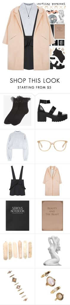 """""""*nothing personal*"""" by my-black-wings ❤ liked on Polyvore featuring Dorothy Perkins, Windsor Smith, Chloé, MANGO, Topshop, Gabriella, Forever 21 and FOSSIL"""