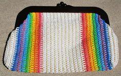 Vintage Clutch Raffia Rainbow Clutch MCI by GoodSoulVintageMI, $21.00