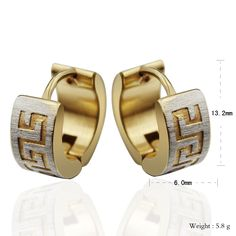 Find More Hoop Earrings Information about 5pair/lot wholesale small gold hoop earrings loop stainless steel great wall design ,High Quality steel pant,China steel sample Suppliers, Cheap earrings 18k from NY jewelry (no min order) on Aliexpress.com