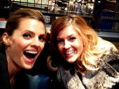 "From Juliana on twitter- ""This is what happens when @Stana_Katic & I are in charge of a camera. #GirlTime #Castle #BTS"""