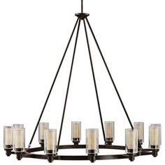 "Circolo Collection Olde Bronze 44 1/2"" Wide Chandelier - #80758 