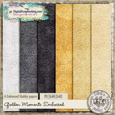 Golden Moments Embossed Papers