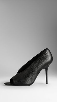 Deerskin Peep-Toe Pumps by Burberry - Found on HeartThis.com @HeartThis