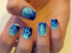 Blue Marble Simple Nail Art Simple Nail Art Ideas