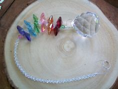 Crystal Chakra Suncatcher Rearview Mirror by weddingbridaldecor