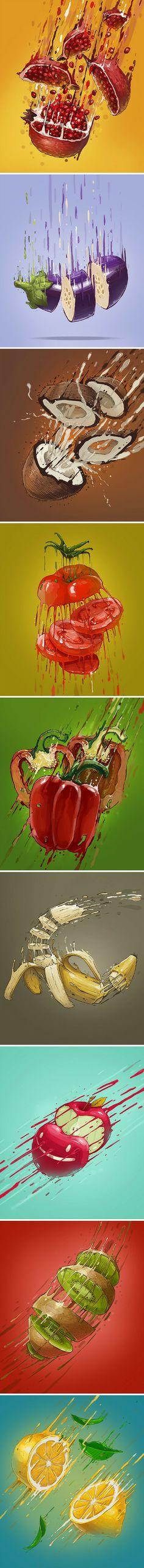 Vitamin Bomb is very interesting and inspirational project from Bulgarian Graffiti artist and illustrator Georgi Dimitrov