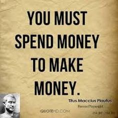 We've all heard the expression 'You have to spend money to make money, haven't we? But is it really true and if it is, what should you spend it on? Wall Street, Earn More Money, How To Make Money, Blockchain, Iphone 7, Money Quotes, Online Earning, Work From Home Moms, You Gave Up
