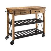 Found it at AllModern - Abbots Kitchen Island Cart with Wood Top in Honey
