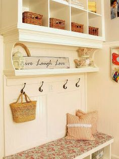 pink petunia pearl: A New Year is here ~ It's time to get ORGANIZED..... in the Mudroom