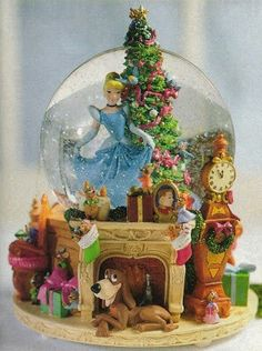 Cinderella Christmas Snow Globe