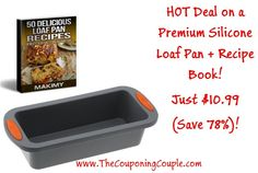 The Holiday Baking season is right around the corner and here is an AWSOME deal on a Makimy Premium Silicone Loaf Pan + Bonus Recipe Book! ONLY $10.99 (Save 78%)! Click the link below to get all of the details about this deal ► http://www.thecouponingcouple.com/makimy-premium-silicone-loaf-pan/  #Coupons #Couponing #CouponCommunity  Visit us at http://www.thecouponingcouple.com for more great posts!