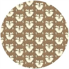 Sarah Watts, TImber & Leaf, Fox Portrait Brown (I love this whole collection)  $5.00 for half a yard