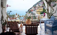 Le Sirenuse in Positano, Italy, is one of the most romantic spots in the world, remaining one of the Mediterranean's most stores hotels, opening in 1951 and playing host to John Steinbeck, who wrote about it in Harpar's Bazaar. The 18th century villa is furnished with antiques an boast hand-painted ceramic tile floors; rooms have private balconies that overlook the bay.