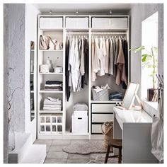 Discover the IKEA PAX wardrobe series. Design your own PAX wardrobe inside and out, from door styles, to shelves, to interior organizers and more. Ikea Pax Wardrobe, Diy Wardrobe, Wardrobe Design, White Wardrobe, Wardrobe Ideas, White Closet, Ikea Wardrobe Storage, Ikea Pax Closet, Wardrobe Drawers