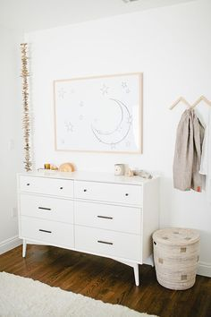 White and natural tones nursery | Almost Makes Perfect