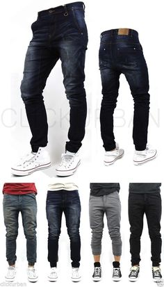KAYDEN.K Elastic Cuff Stretch HAREM Jogger denim JEANs Pants trousers tapered #KAYDENK #HaremFit