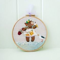 Gardenia's Ice Cream Embroidery Hoop Art Cute and