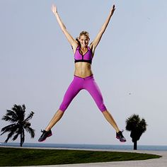 Plymetric workout. Burns belly fat, firms thighs and glutes. Burn up to 350 calories in 30 minutes.