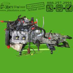 JDM Subaru Impreza WRX EJ20 Turbo DOHC Engine 5 Speed Manual Transmission 92-01 #Subaru