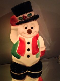 "*VtG 17.5"" FROSTY SNOWMAN  CHRISTMAS Blow Mold Lights Up Yard Decoration 024816-2"
