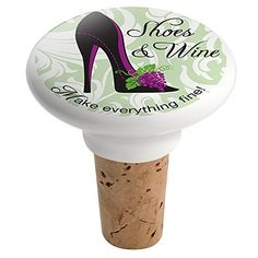 Wine Stoppers - Epic Products Shoes and Wine Ceramic Bottle Stopper Multicolor *** See this great product.