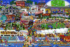 #naive #painting called London-2012 by #artist marie jonsson-harrison