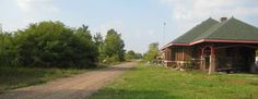 The Wild Rivers State Trail runs 104 miles...and past the restored depot in Rice Lake, WI.  Click for DNR details.