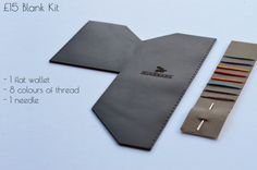 The Wingback Leather Slim Wallet is available threaded in a color of your choice or as a kit so you can get creative and stitch it up however you like.