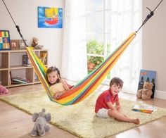 The Iri Children's Hammock will help your little ones find the calm protection they need for playing and dreaming. Soft swinging stimulates the sense of balance, thus playfully promoting your child's development.   http://www.sensoryedge.com/hammock-for-children-iri.html