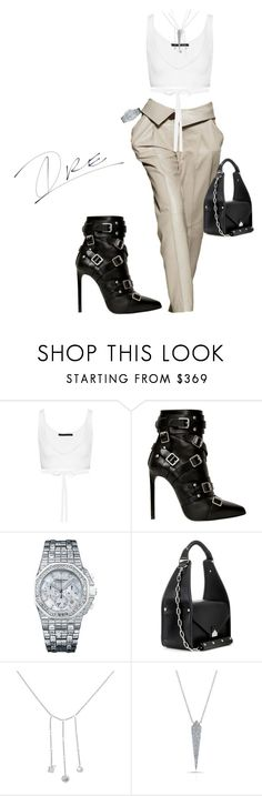 """""""Work"""" by stylinwitdre ❤ liked on Polyvore featuring Trussardi, Alexander Wang, Yves Saint Laurent, Audemars Piguet, Balenciaga, Anne Sisteron and Piaget"""