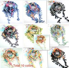 Aliexpress.com : Buy 100% Polyester Spring Jewelry Scarf with Fringe,10 colors NL 1518 from Reliable fashion scarves suppliers on Well Done Fashion Jewelry Co.,Ltd. $4.00
