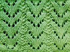 Norwegian Fir Stitch - 8 row pattern with all WS rows purled.