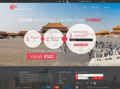 Website Template for a Visa Support service by Solution Designs