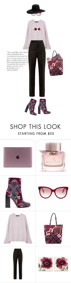 """Без названия #2231"" by marina-smile-nazarenko ❤ liked on Polyvore featuring Burberry, Jeffrey Campbell, Karl Lagerfeld, MANGO, Emilio Pucci, Maison Margiela and Maison Michel"