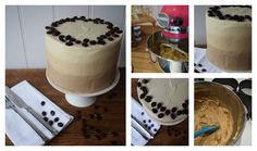 Creamy Latte Layer Cake, full recipe available for immediate download.