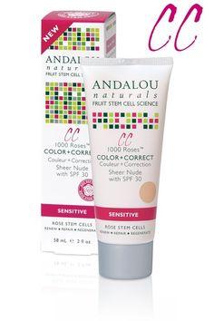 Andalou Naturals 1000 Roses CC Color + Correct, Sheer Nude, SPF 30    Skin Deep® Cosmetics Database   Environmental Working Group