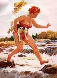 Hilda, a Pin-Up Voluptuosa de Duane Bryers Arte Pin Up, Pin Up Art, Pin Up Vintage, Curvy Pin Up, Modelos Plus Size, You Go Girl, Calendar Girls, Illustration, Pin Up Girls