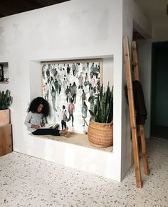 Coming Back wall art print by Minted artist Lulaloo. Busy strangers in a watercolor. Photo courtesy of Billy Jack Brawner III. Back Painting, Entry Way Design, Mid Century House, Home Interior Design, Living Room Designs, Wall Art Prints, House Styles, Penthouses, Condos