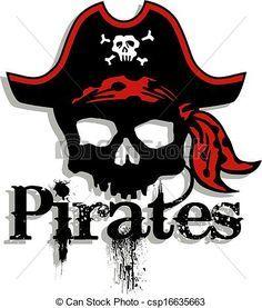 Pirate Skull Clip Art | pirate clip art free printable | Illustration of Pirate Skull Captain ...