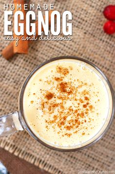 Eggnog is one of my favorite treats this time of year, and nothing beats homemade!  We took store-bought eggnog and compared it against homemade eggnog and ranked it in ingredients, taste and price - care to guess which one?  Get the super simple winning recipe. :: DontWastetheCrumbs.com