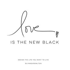 Love is the new black...it's so fashionable ❤️