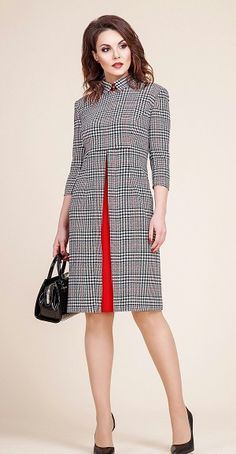 My kind of plaid dress is part of Fashion dresses - Popular Ladies Mode Outfits, Dress Outfits, Fashion Dresses, Trendy Outfits, African Fashion, Korean Fashion, Korean Dress, Mode Chic, Work Fashion
