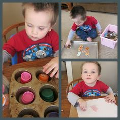 Keeping your tot busy. Lots of good hands on ideas for 2 year olds!