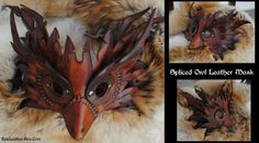 Steampunk Spliced Owl Mask by Epic-Leather on deviantART