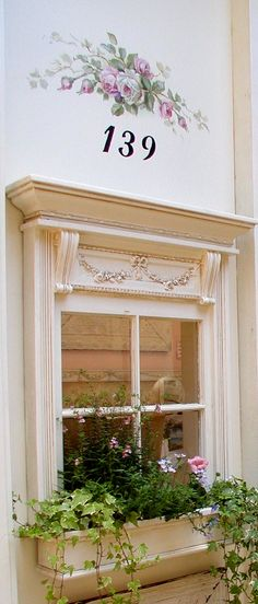 details & flower box - cute for a garden shed that doesn't have a window
