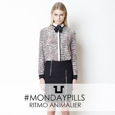 MOOD: RITMO ANIMALIER #SpaceStyleConcept #FallWinter14 #Animalier #Print #Dress #MondayPills #Bowtie