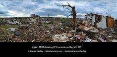 Panographic photograph from Joplin, MO following the deadly EF5 tornado on May 22, 2011. Follow Warren's storm chasing adventures and photography updates live at Facebook/warrenfaidley