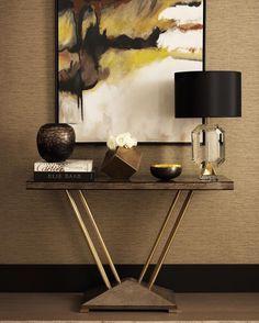 Console Table Ideas and Inspirations   www.bocadolobo.com #bocadolobo #luxuryfurniture #exclusivedesign #interiodesign #designideas #consoletables #modernconsoletables #entryway #halltable